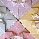 Colours of Origami Heart Thank You Cards