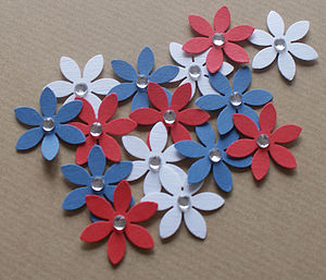 Red White & Blue Punched Flowers - shop by price