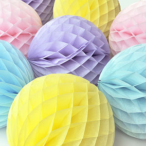 Tissue Paper Honeycomb Ball Decoration - outdoor decorations