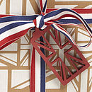 Union Jack Navy Gift Wrap Set