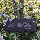 Mr and Mrs Wedding Anniversary Sign