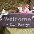 welcome to the party wedding sign