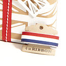 Red White Blue Striped Ribbon Bobbin