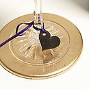 Personalised Blackboard Wine Glass Charms
