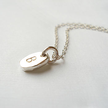 Personalised Tiny Pebble Necklace
