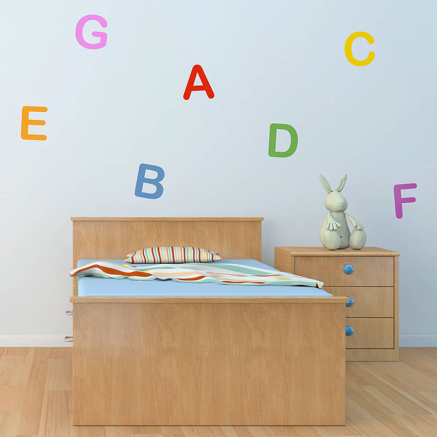 Personalised Letter And Number Wall Stickers Part 78