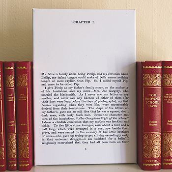 Personalised Favourite Book Canvas