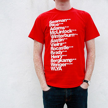 Best Arsenal Football Players T Shirt