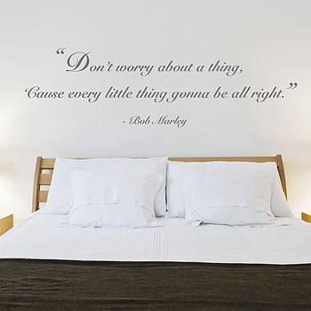 'Don't Worry' Quote Wall Sticker