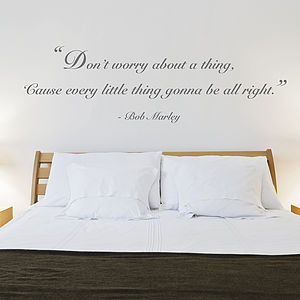 'Don't Worry' Quote Wall Sticker - wall stickers