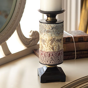 Decorative Embossed Candle Holder - candles & candlesticks