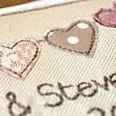 Personalised Bunting Handmade Wedding Card