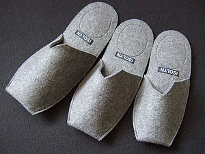 Men's Felt Slippers