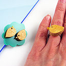 Wood Pigeon Ring And Bush Set