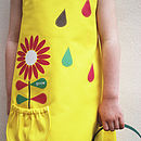 Girl's Yellow Summer Flower Dress