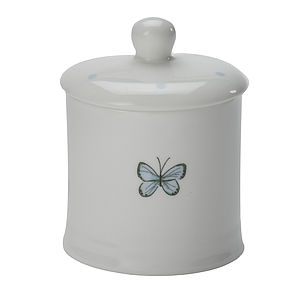 Butterfly China Jam Jar
