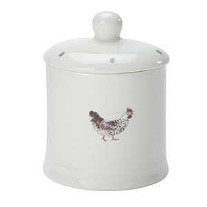 Chicken China Jam Jar - crockery & chinaware