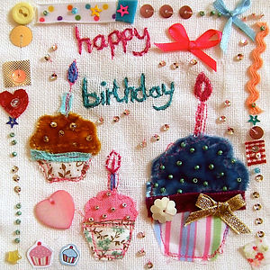 'Happy Birthday' Cupcake Cards