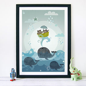 Owl & Pussycat Print - baby & child sale
