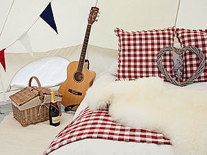Gingham Throw And Picnic Rug