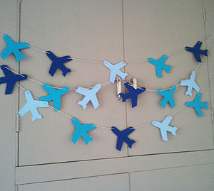 Aeroplane Garland - children's room
