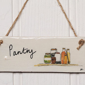 Handmade 'Pantry' Sign - home accessories