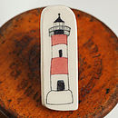 Lighthouse Earthenware Badge