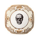 Upcycled Skull Design Gold Side Plate