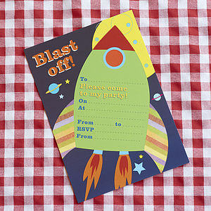 Space Party Invite - cards & invitations