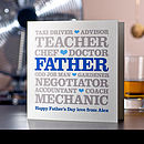 Father's Day 'Professions' Card