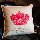Personalised Crown Cushion