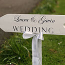 Personalised Wedding Sign Post