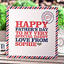 Personalised 'Very Special' Father's Day Card