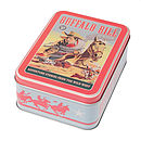 Vintage Style Treasure Tins With Horses
