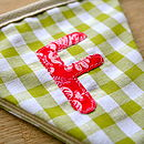 Owl Personalised Fabric Bunting