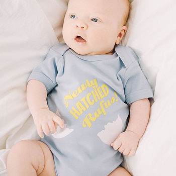 Personalised 'Newly Hatched' Baby Vest