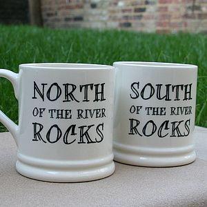 'North Or South Of The River Rock' London Mug - tableware