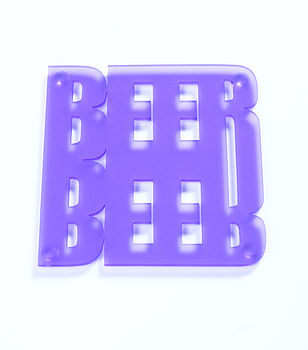 Frost Purple Beer Coasters