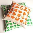 Shapes And Things Organic Print Cushion