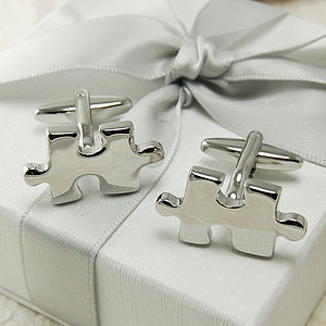 Jigsaw Cufflinks - wedding jewellery