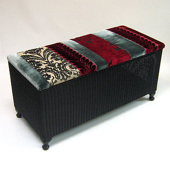Upcycled Vintage Ottoman