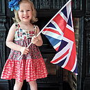 Girl's Handmade London Design Dress