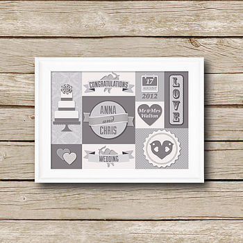 Personalised Wedding Day Print
