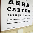 Personalised New Baby Eye Test Print