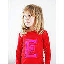 Personalised Red Initial T Shirt
