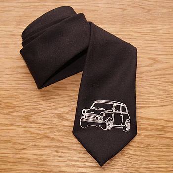 Mini On Black British Wool Tie