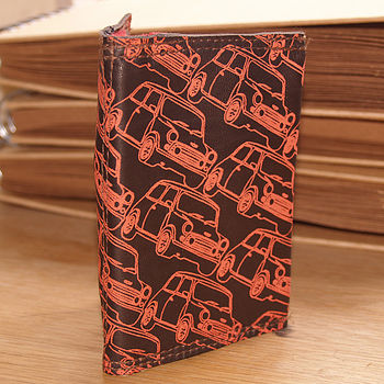 Mini Cars Leather Zip Wallet