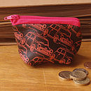 Minis On Chocolate Leather Wallet And Purse