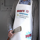 Men's Personalised SuperHero Apron