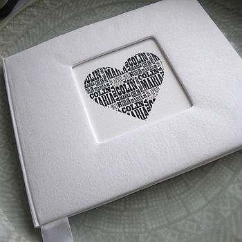 Personalised Wedding Guest Book from Letterfest